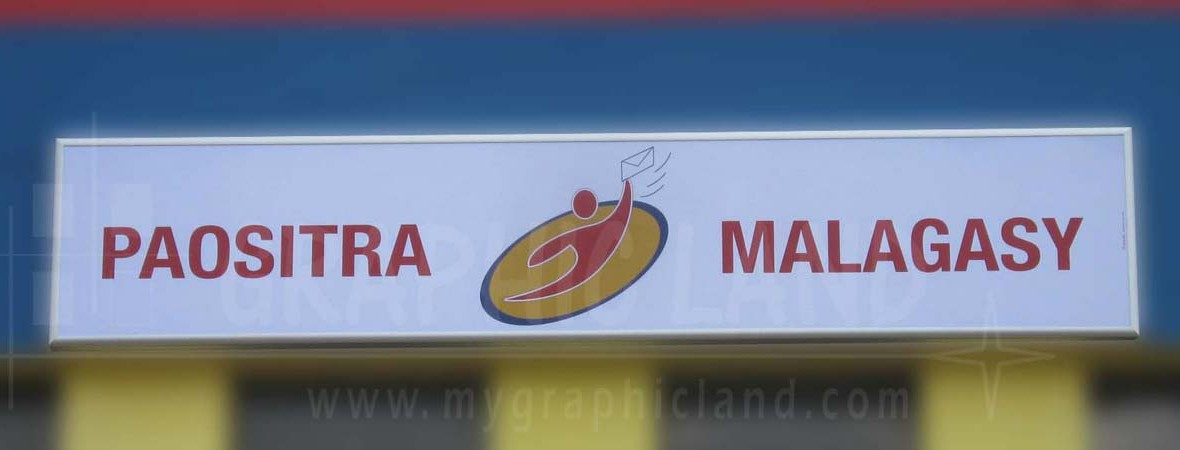 Enseigne Poste malgache