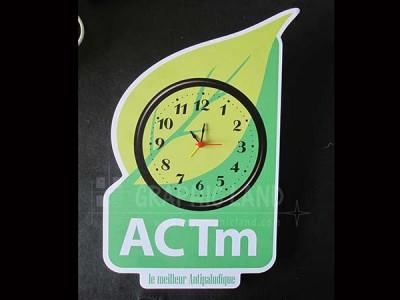 horloge publicitaire