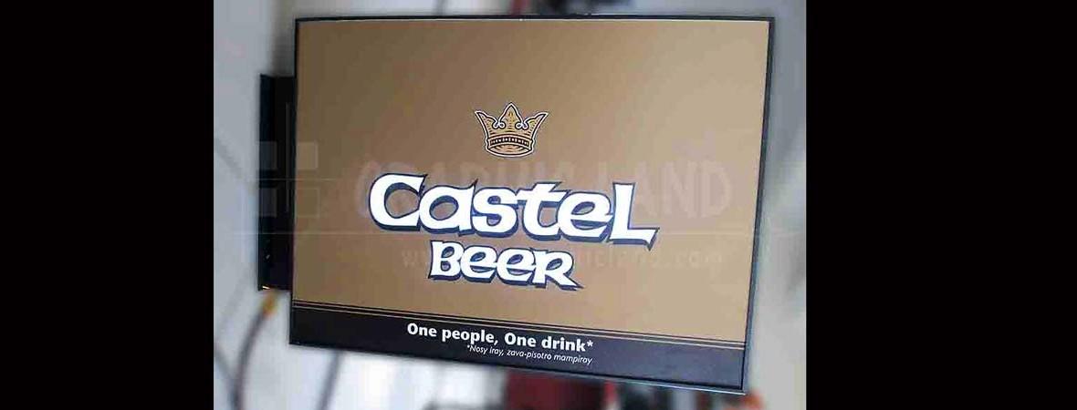 Enseigne Castel bière