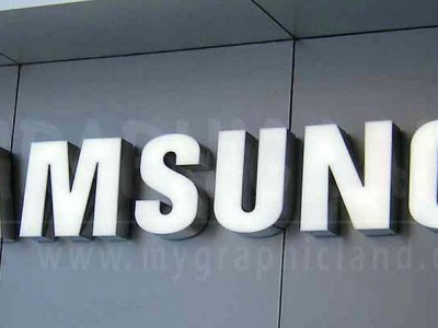Enseigne lettres lumineuses Samsung