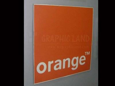 impression sur métal, Orange