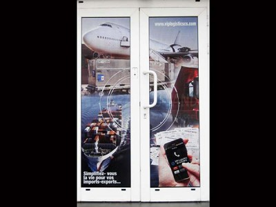 Impression sur Vinyle : vitrine , porte