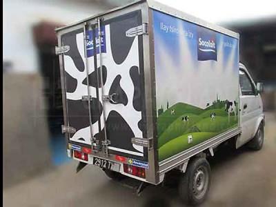 Impression sur Vinyle : habillage camion Socolait