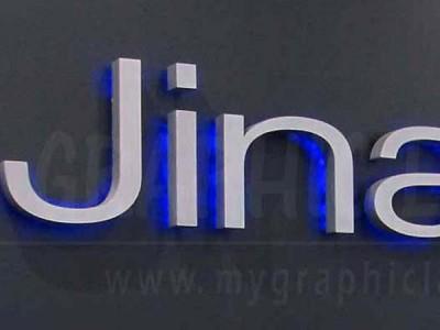 Enseigne lettres lumineuses Jina