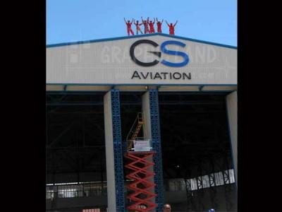 Enseigne lettres lumineuses GS Aviation