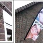 Flying banner murale
