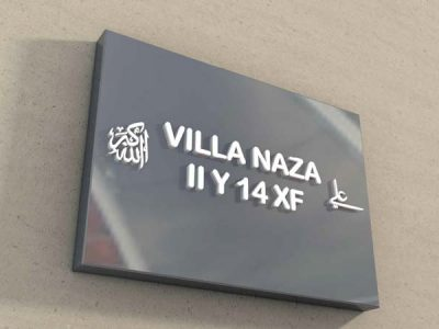 enseigne villa naza